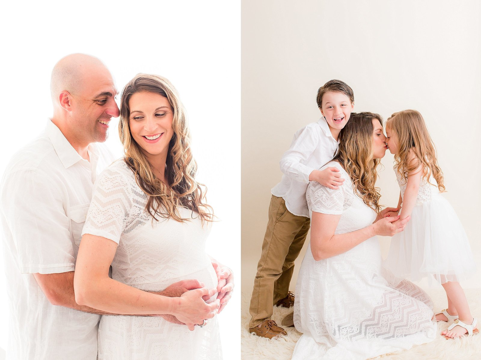 Maternity session with older siblings