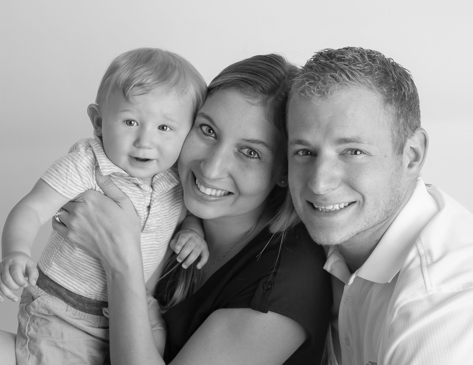 Loving family in our studio in Rochester, NY.