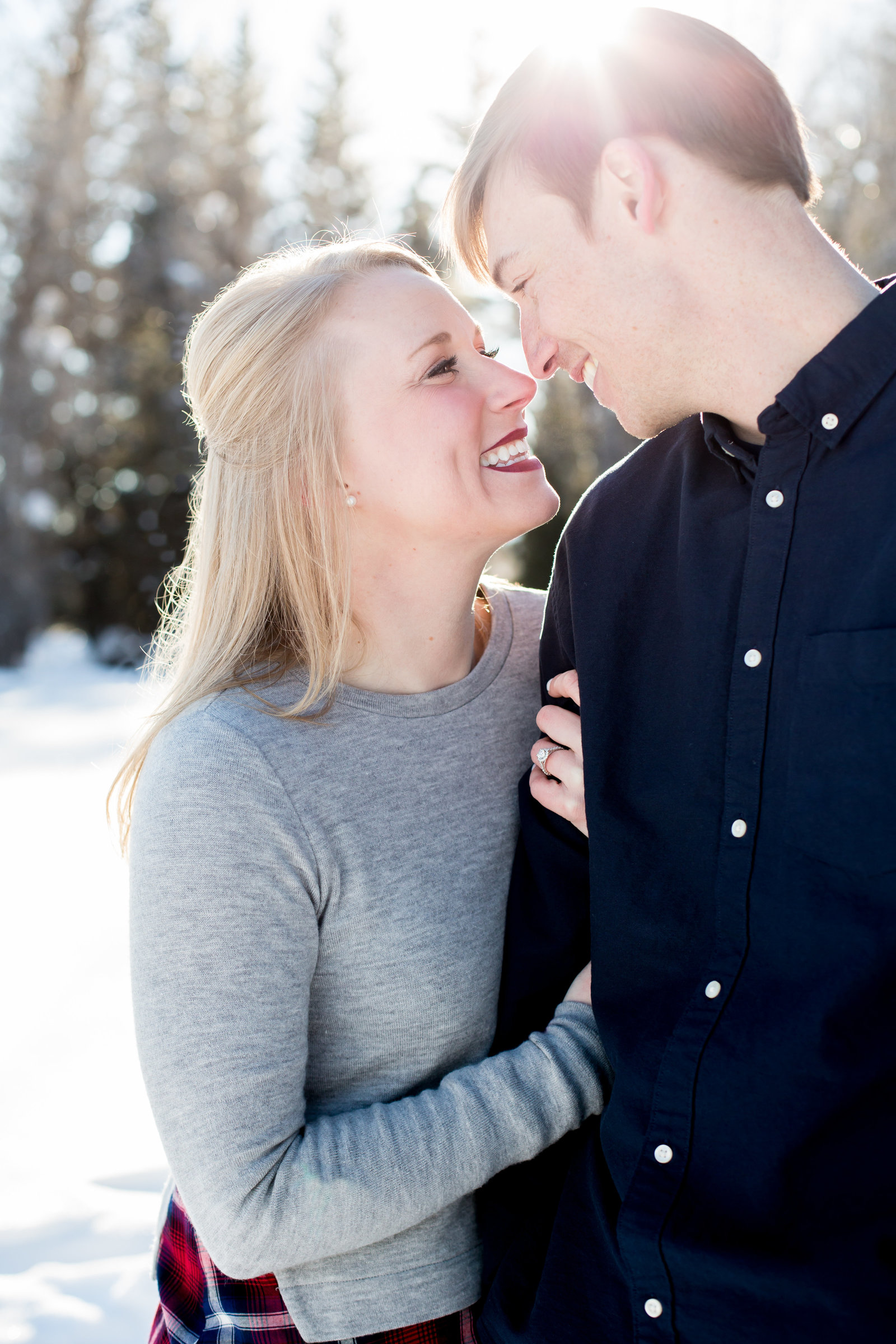 Winter engagement session Jackson Hole WY