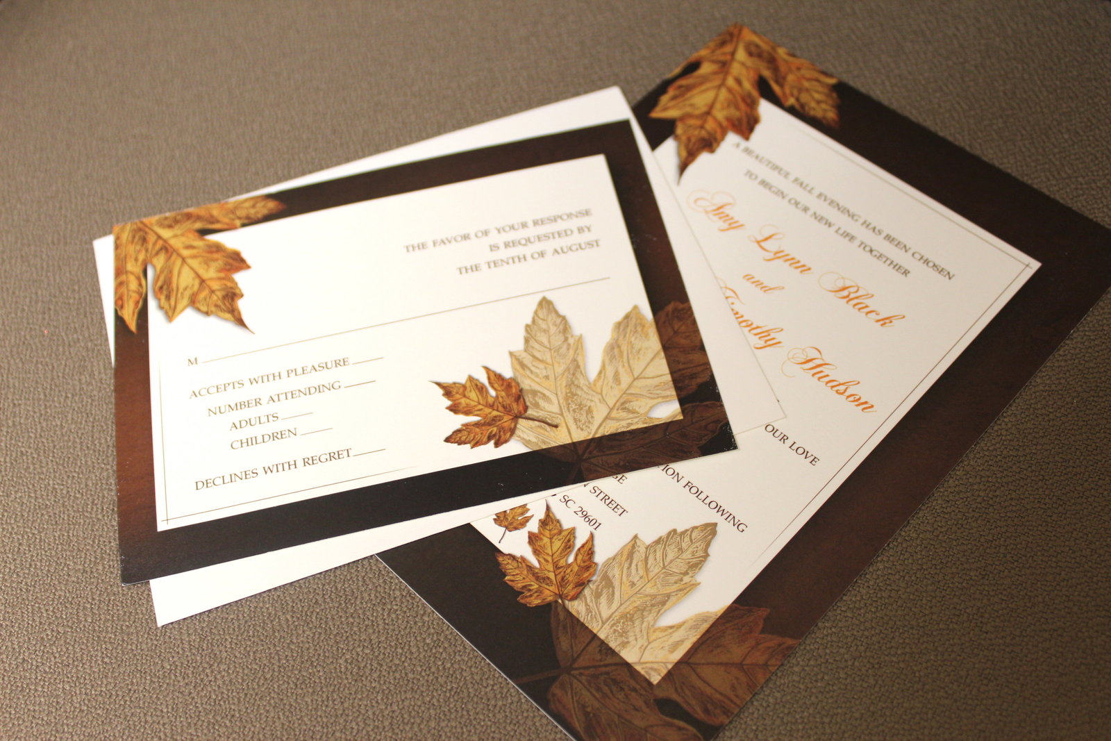 Wedding Invitation designed by Jennifer Pellin