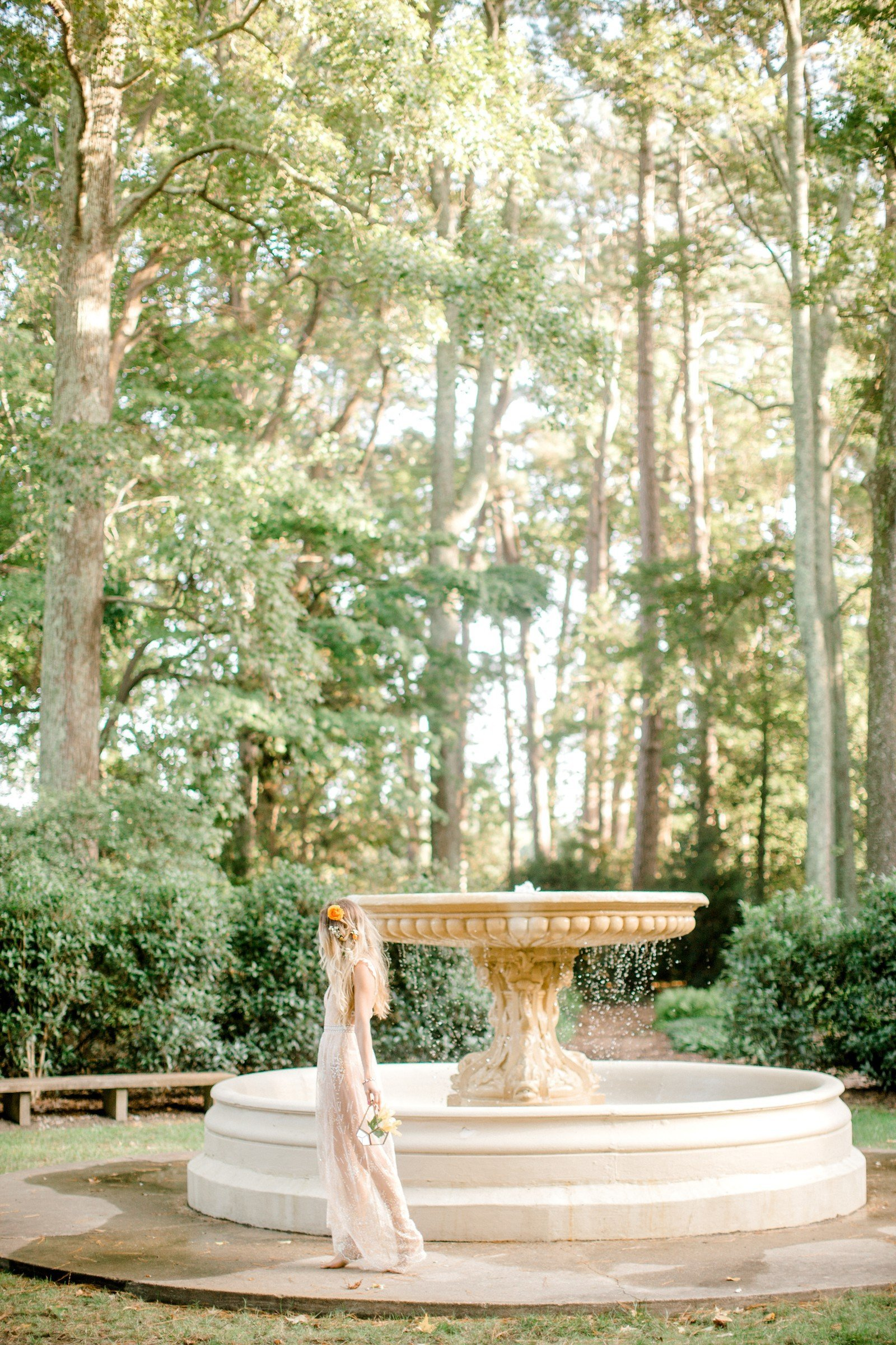Norfolk Botanical Gardens Boho Bridal Beauty Kathy Forrest Design Hampton Roads Yours Truly Portraiture-10