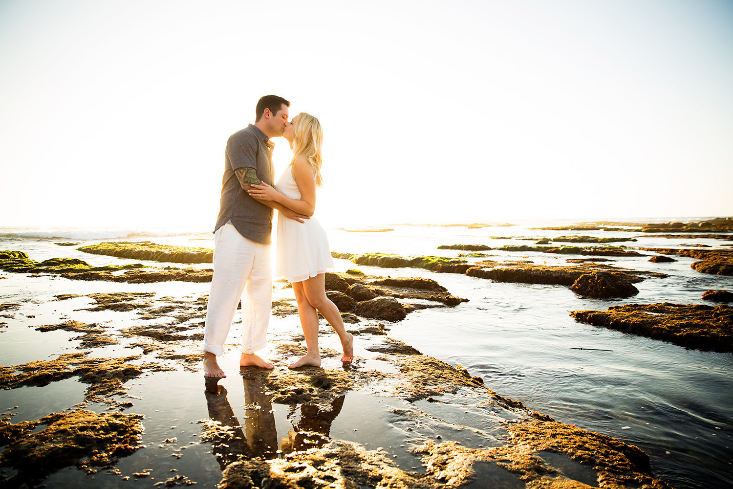 Ocean Beach Tidepool engagement photos