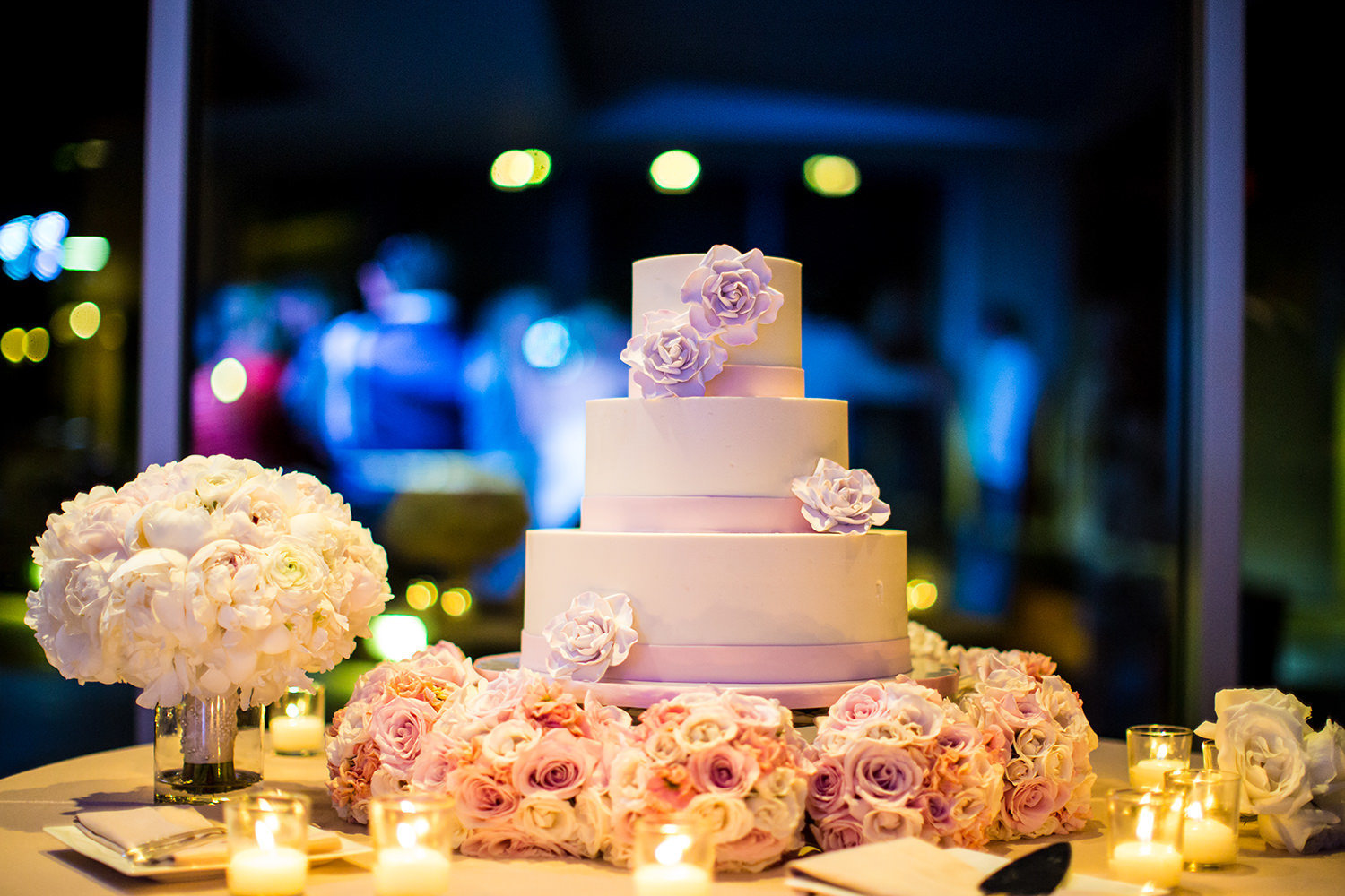 cake table with candles