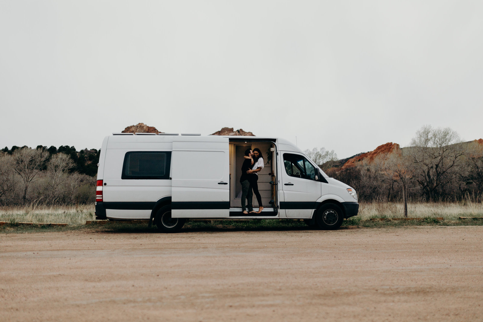 Couple living in a van - vanlife-1