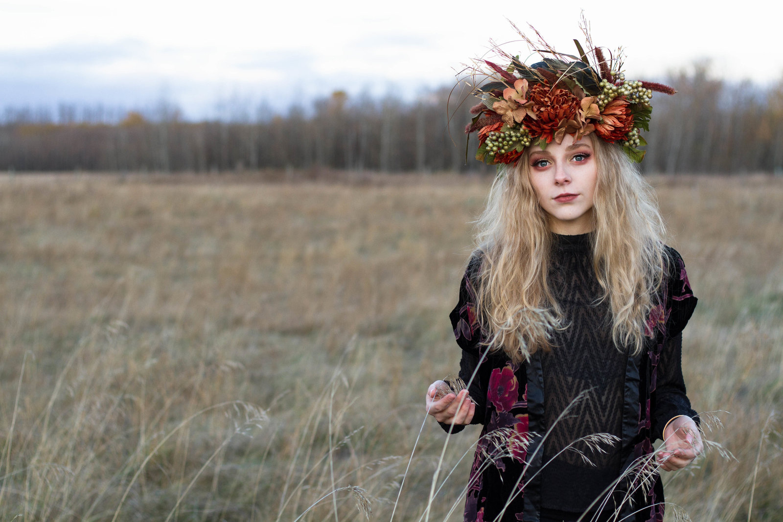 Two blondes embrace their inner fairy queen in a beautiful boho-inspired glamour session featuring hand-made flower crowns.