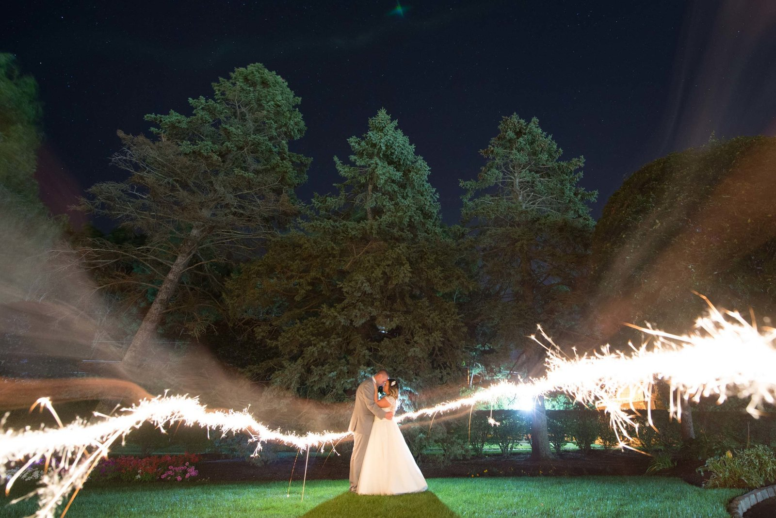 Sparkler night photo at East Wind