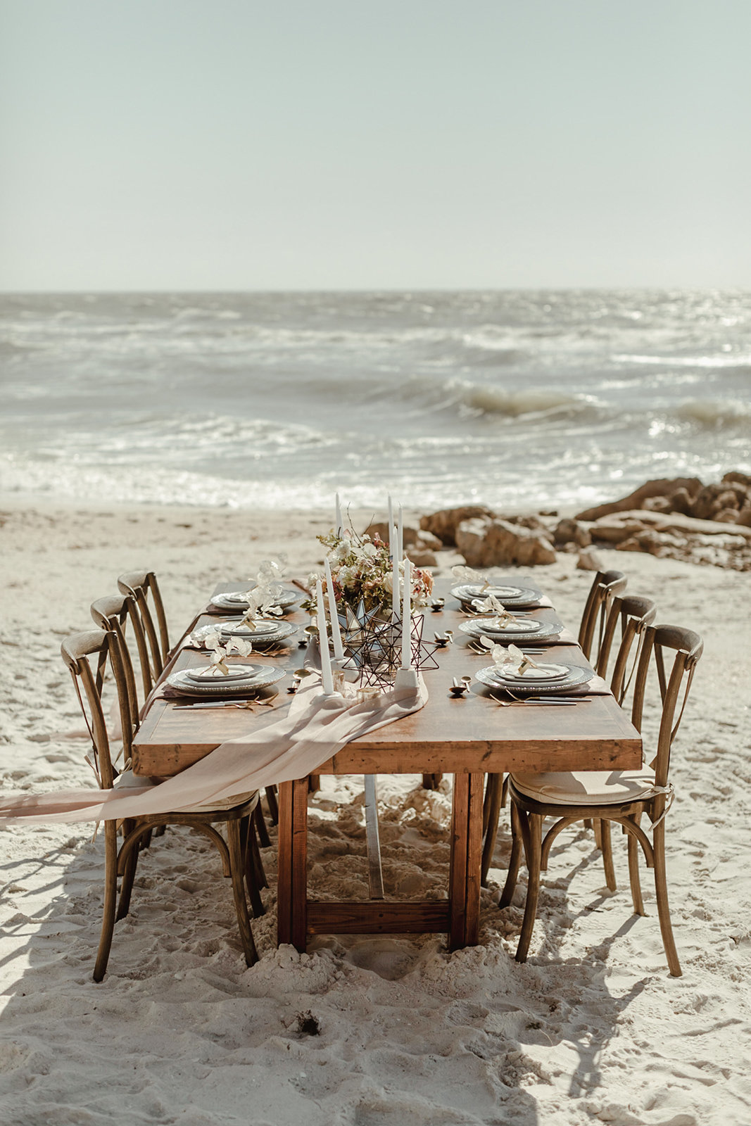 Celestial wedding inspiration_ beach elopement style-21