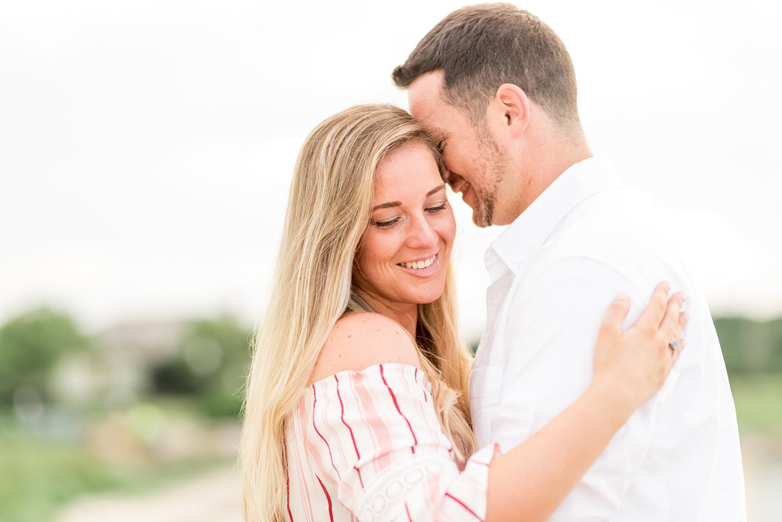 Bright White Engagement Photo