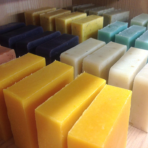 cold process soap bars