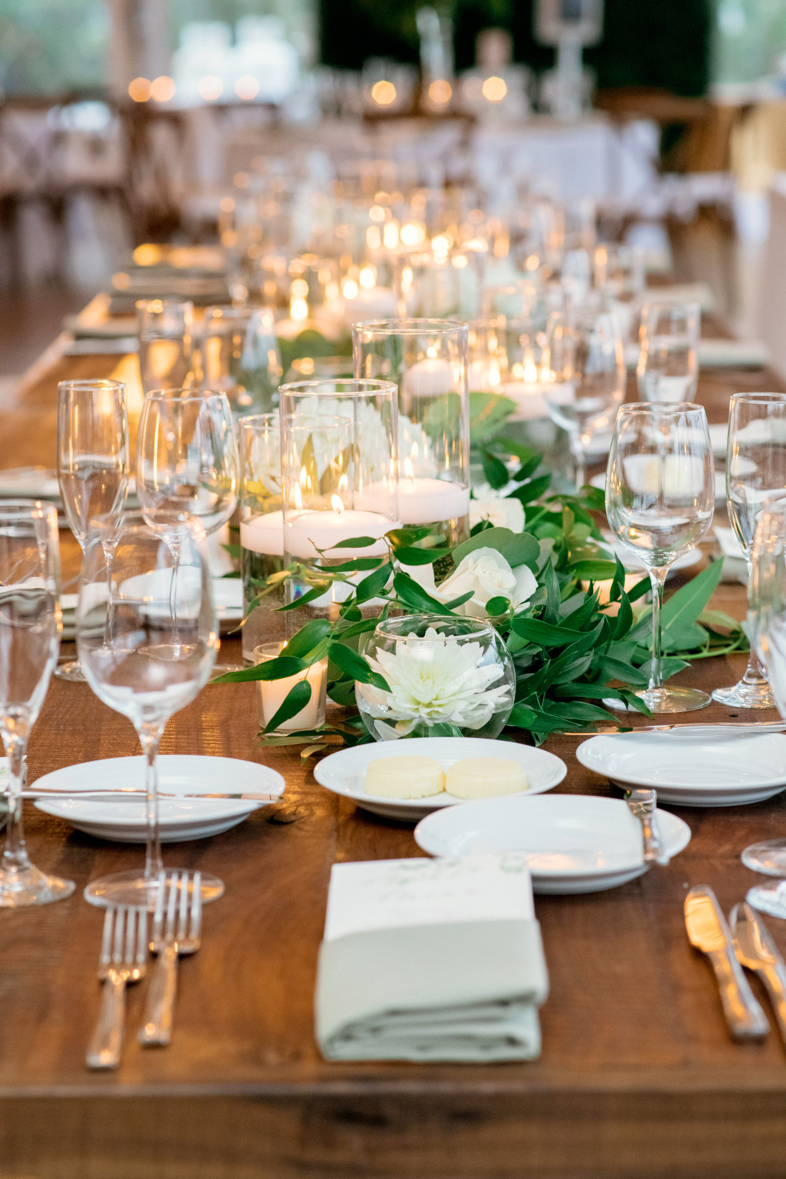 photo of table settings from Gurneys Montauk Resort wedding