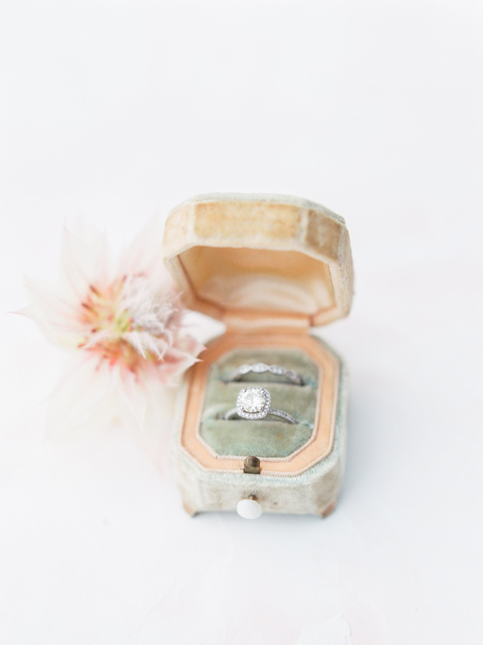 Christa O'Brien Photography Georgia Wedding photographer fine art film  ring box antique