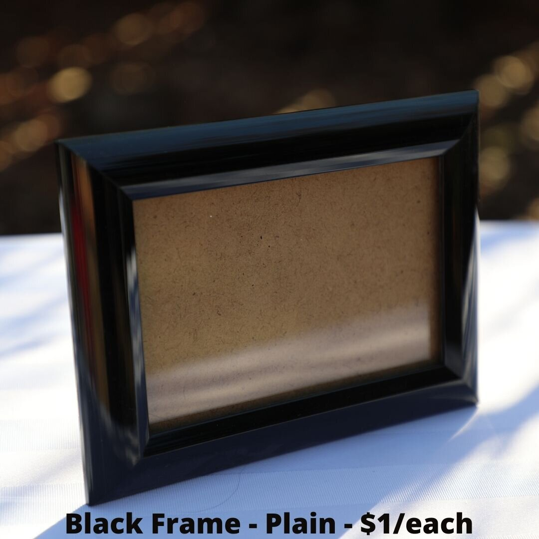 black frame plain