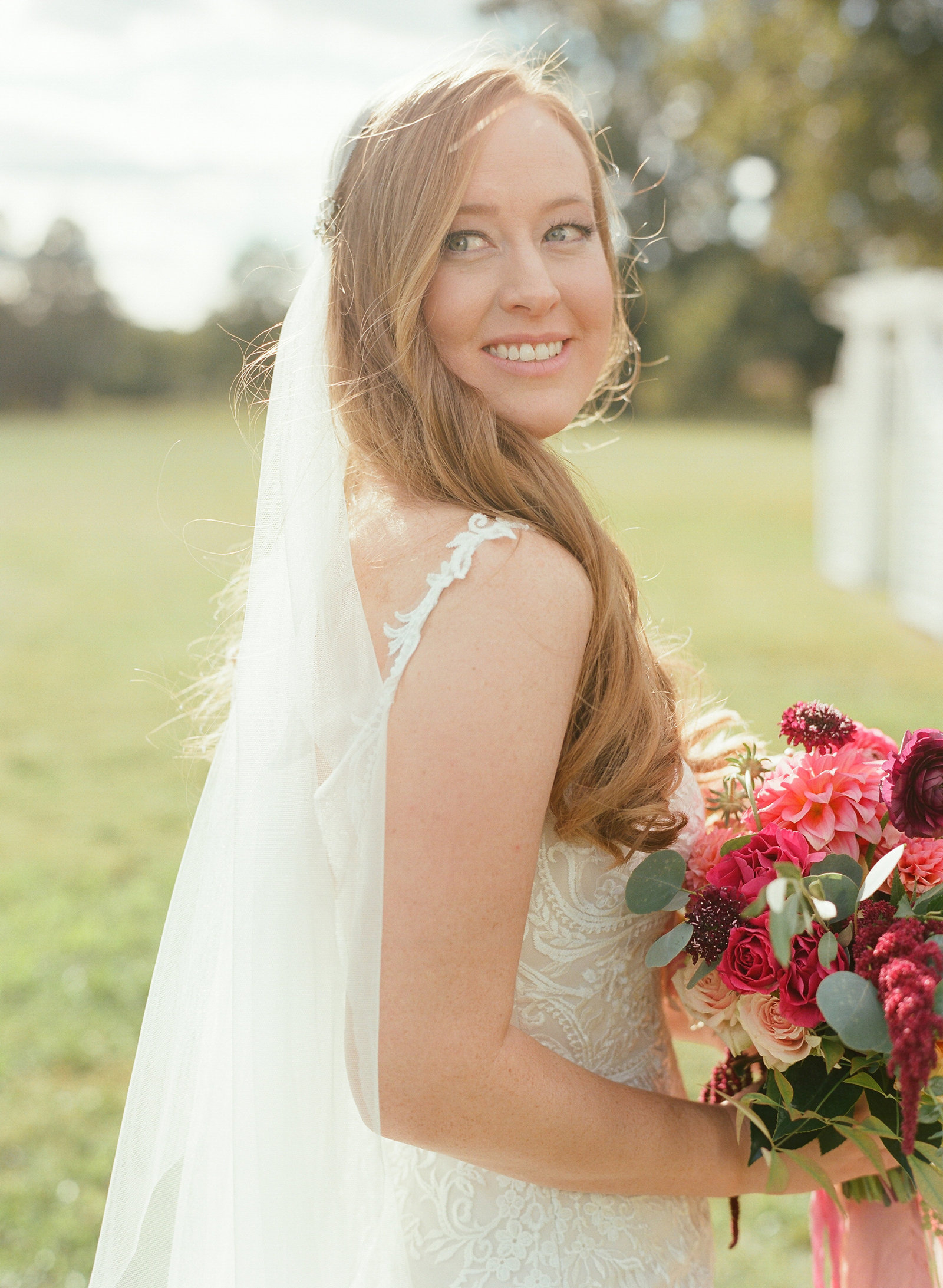 Pamela Barefoot, Atrendy, Warner Hall wedding, Virginia wedding, holly chapple bouquet, juliet veil, martha stewart wedding