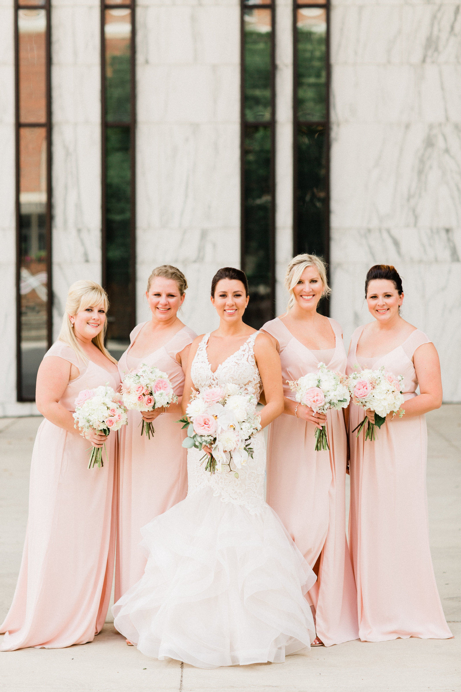 Blush Bridemaids