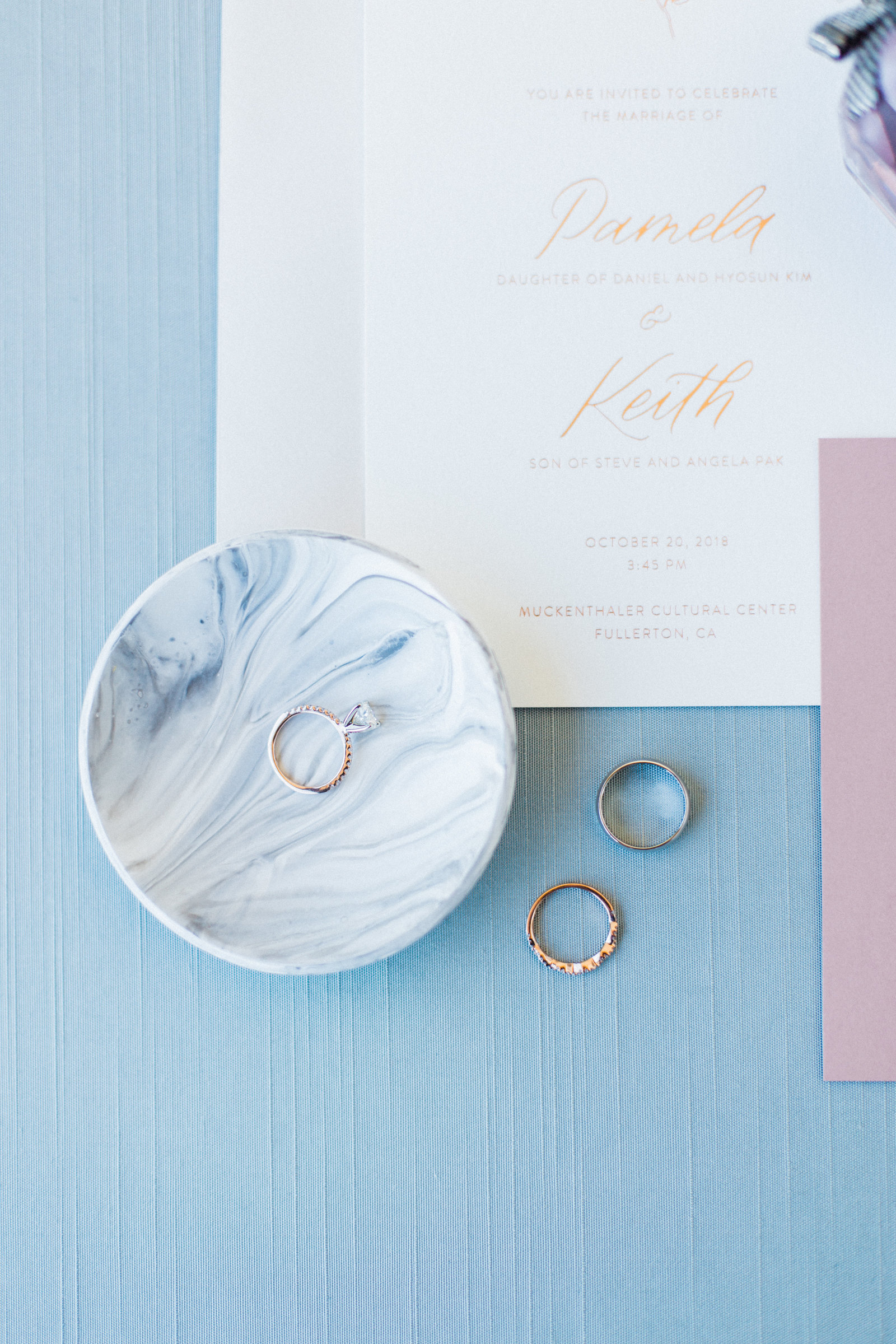 Orange County Wedding Invitations and Rings