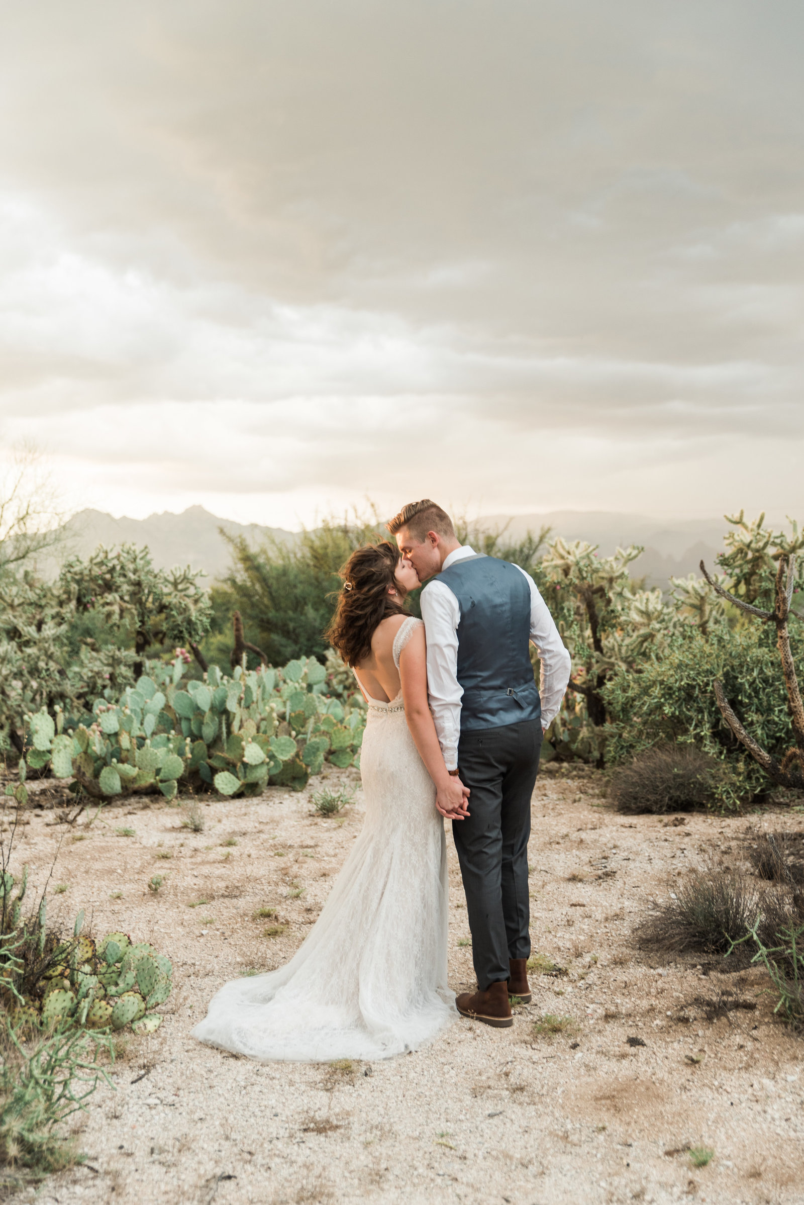 Classic Tucson Saguaro Buttes Desert Wedding Photo | Tucson Wedding Photographer | West End Photography