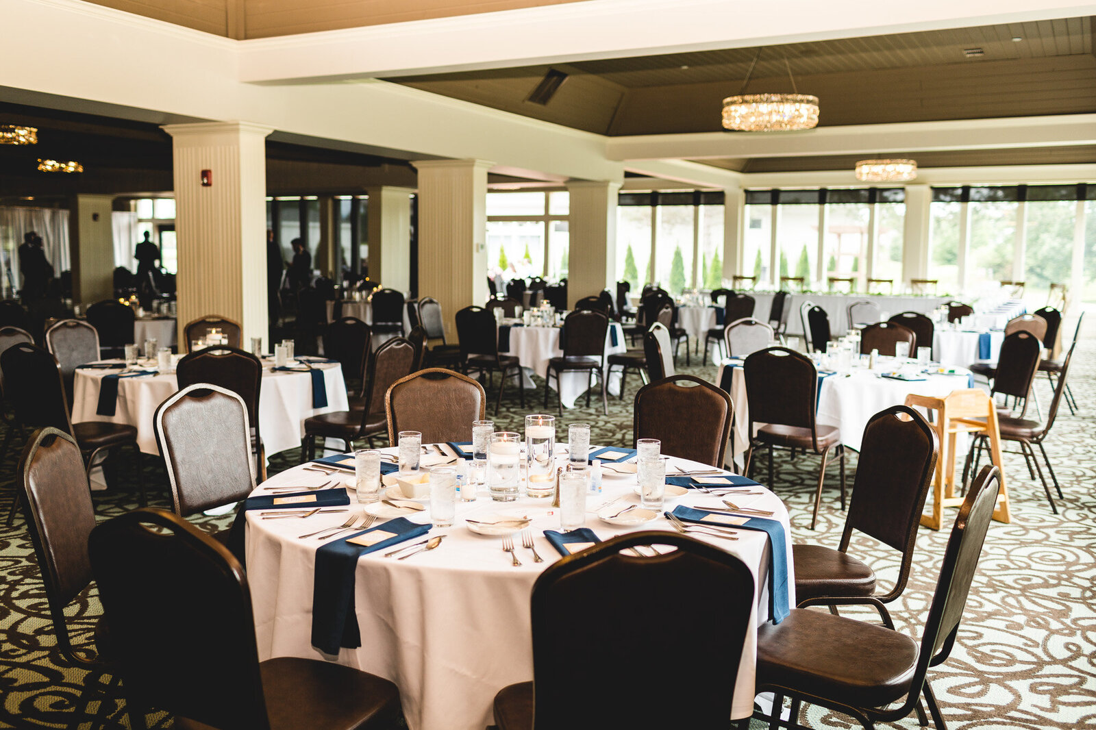 reception hall detail and design for summer wedding ohio