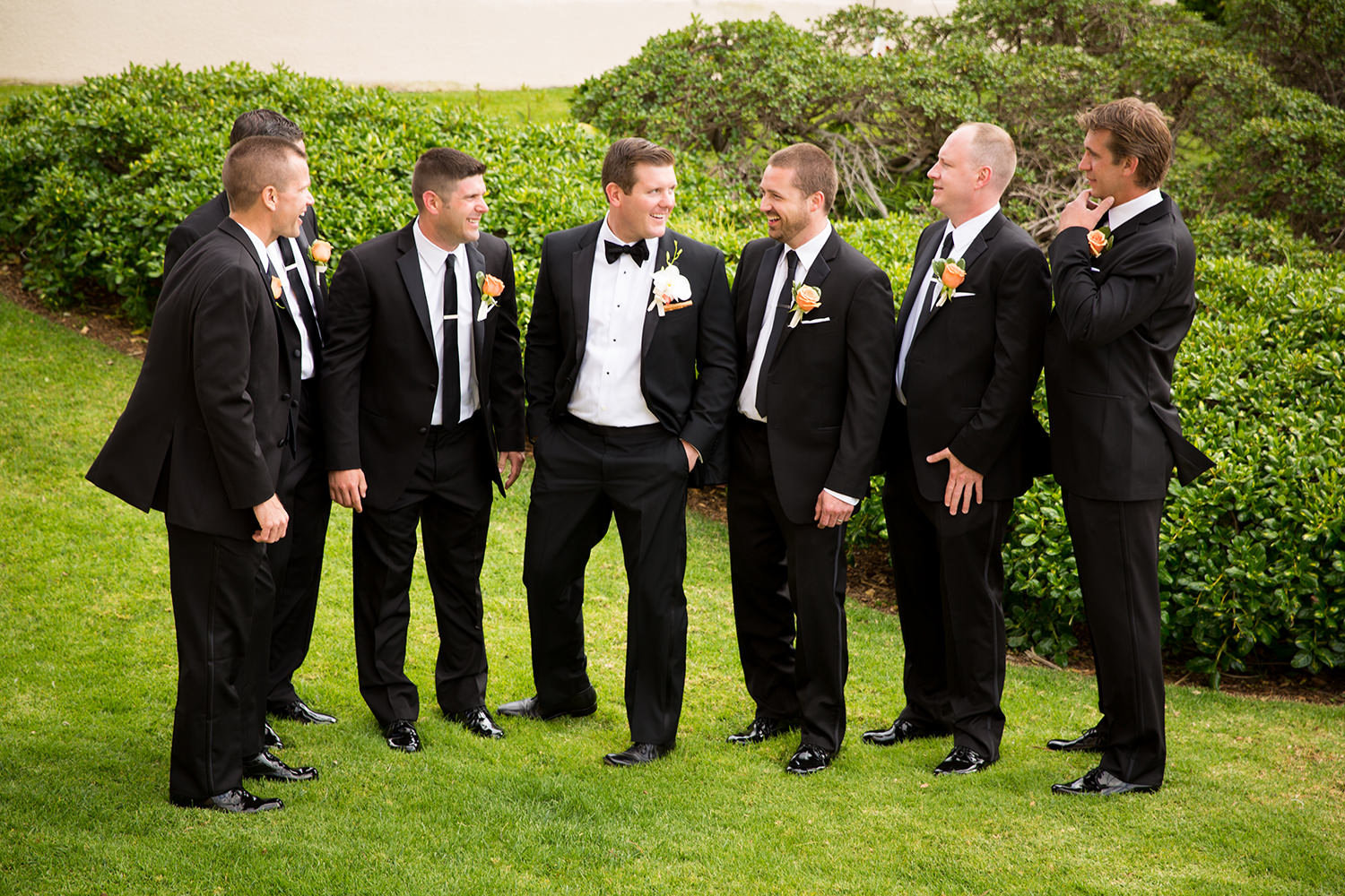 groomsmen at loews coronado