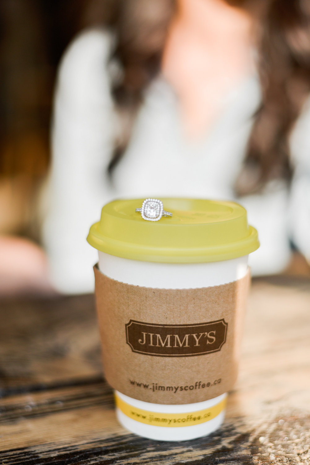 Jimmy's coffee engagement ring