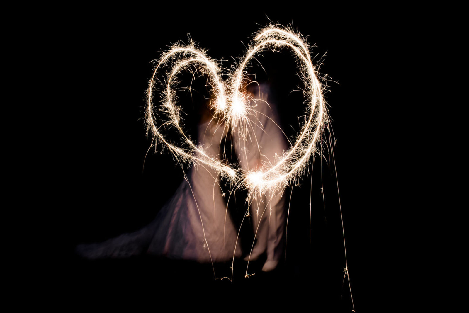 Night Wedding Sparklers Maryland