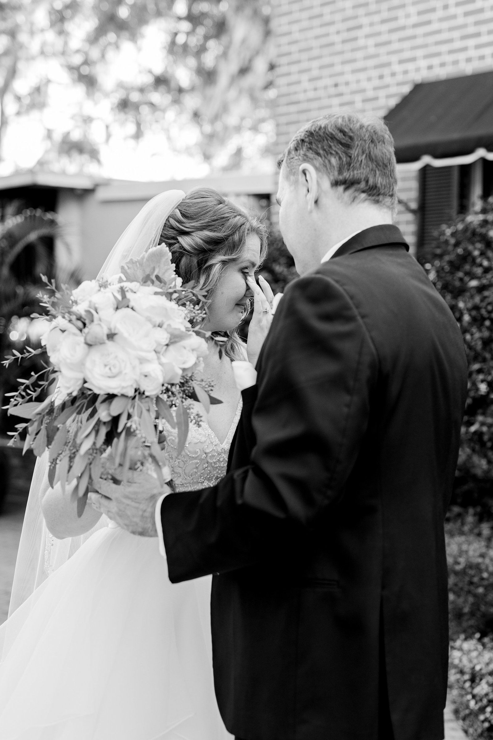 Father Daughter Wedding First Look | Town Manor Weddings