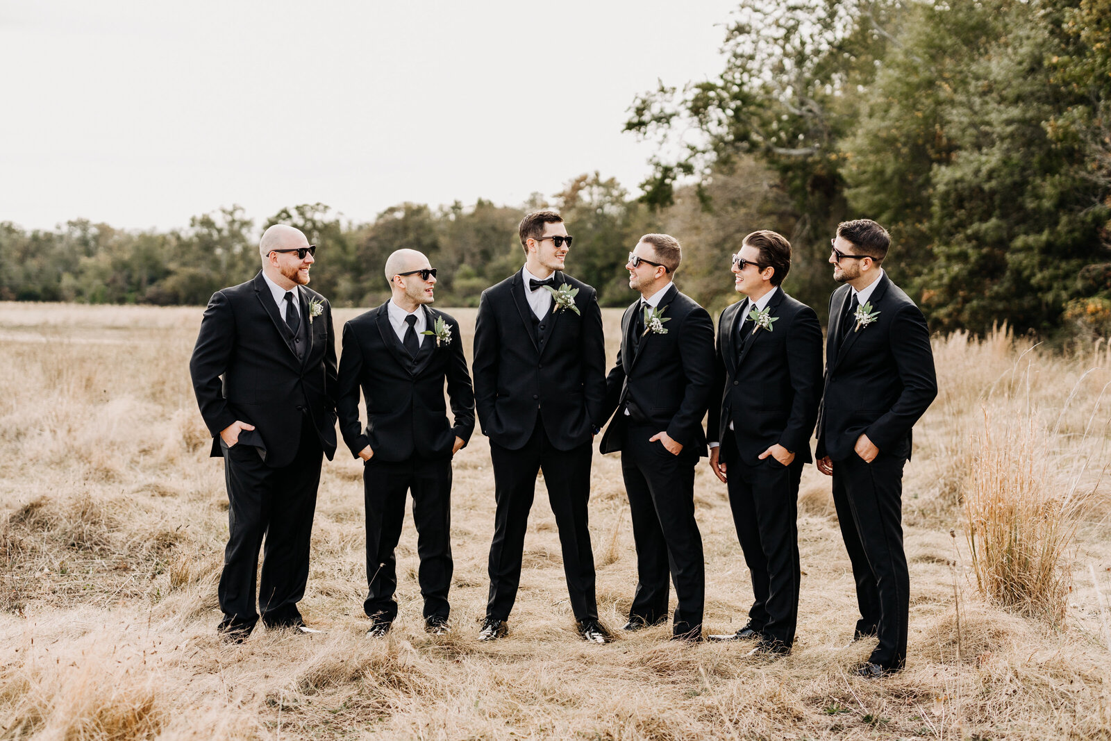 groomsmen with sunglasses