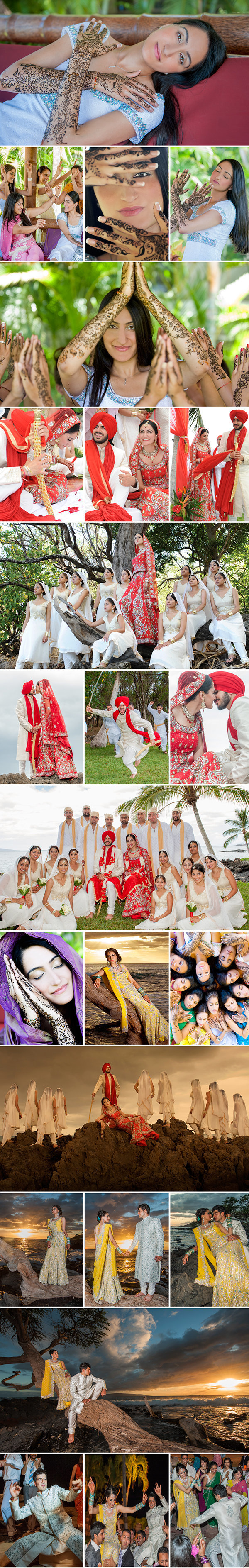 Hawaii Indian wedding photographers | Maui | Kauai | Oahu