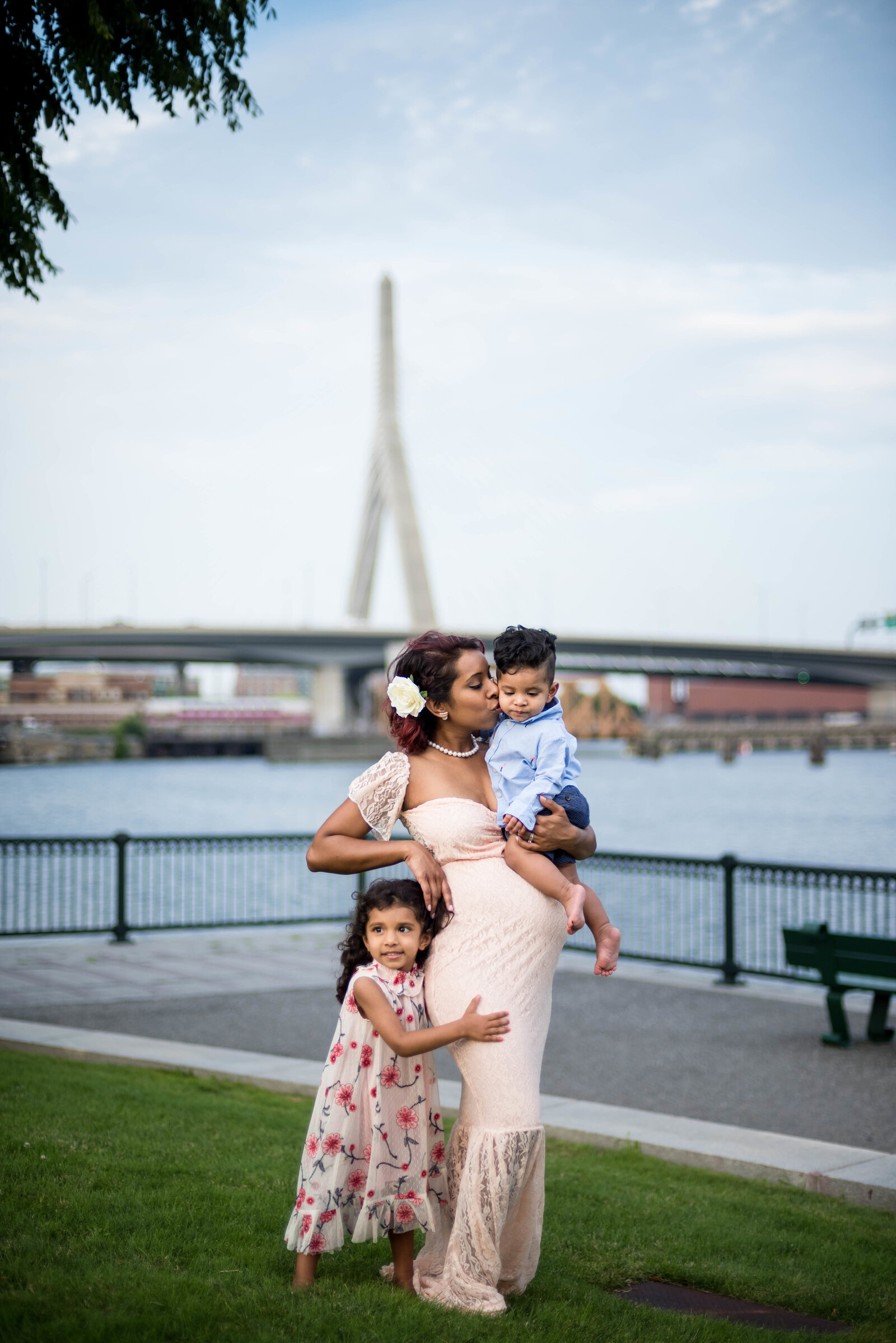 North Point Park in Cambridge Maternity session