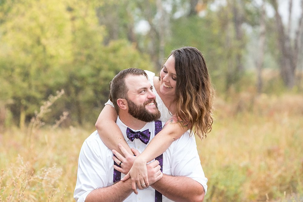 fall wedding in Colorado with Shadie and Levi