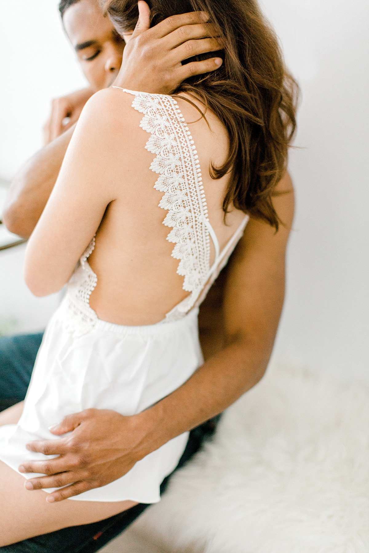 Sensual Multiracial Couples Boudoir Photo Shoot BHLDN Lingerie VA Photographer Yours Truly Portraiture-37