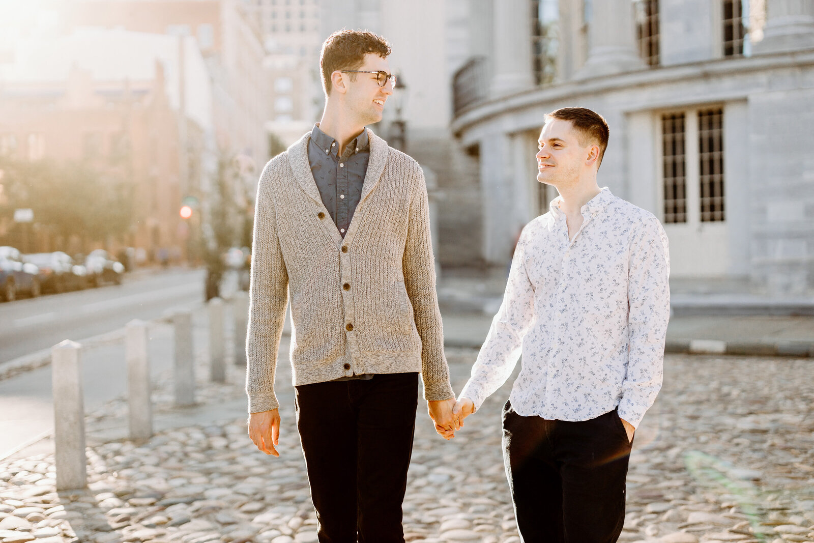gay couple in old city