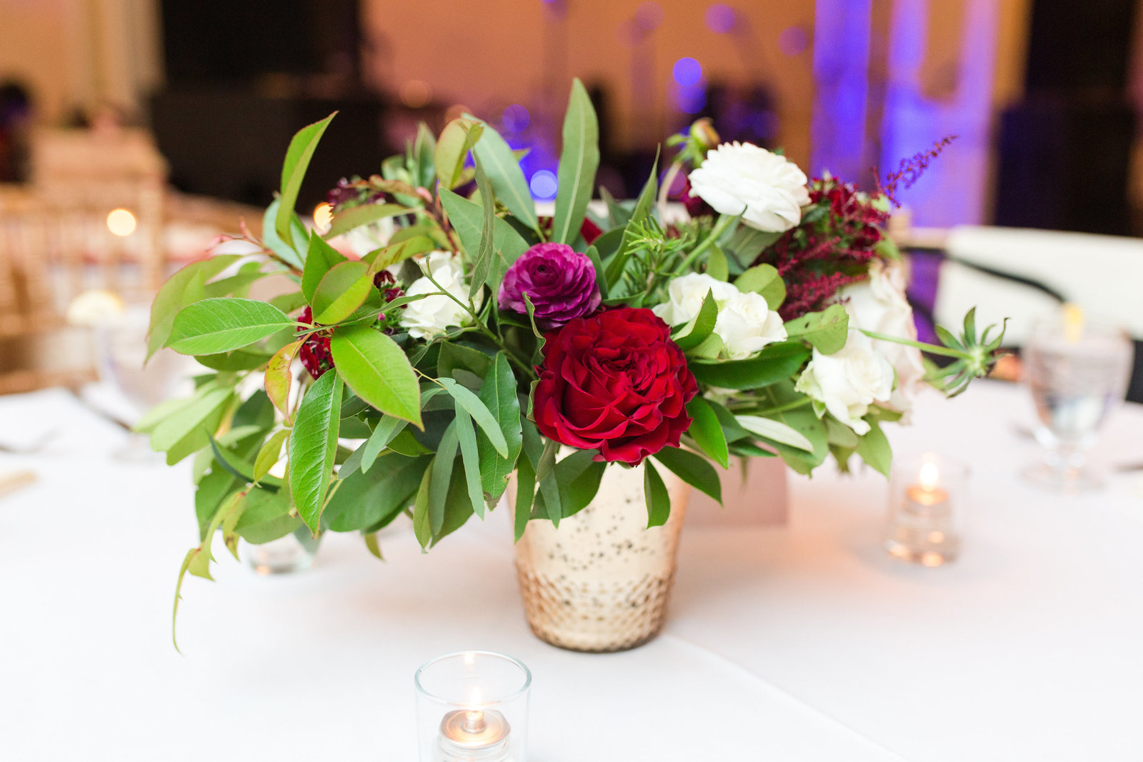 low and lush centerpiece from everly alaine florals