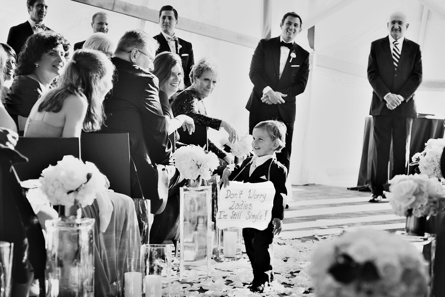 San Diego Public Library wedding photos ceremony with cute ring bearer