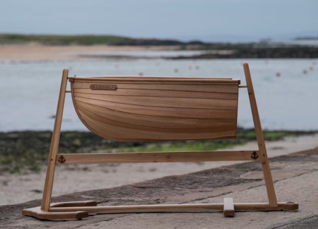 Nautical Baby's Cradle by Sam Rouse Furniture