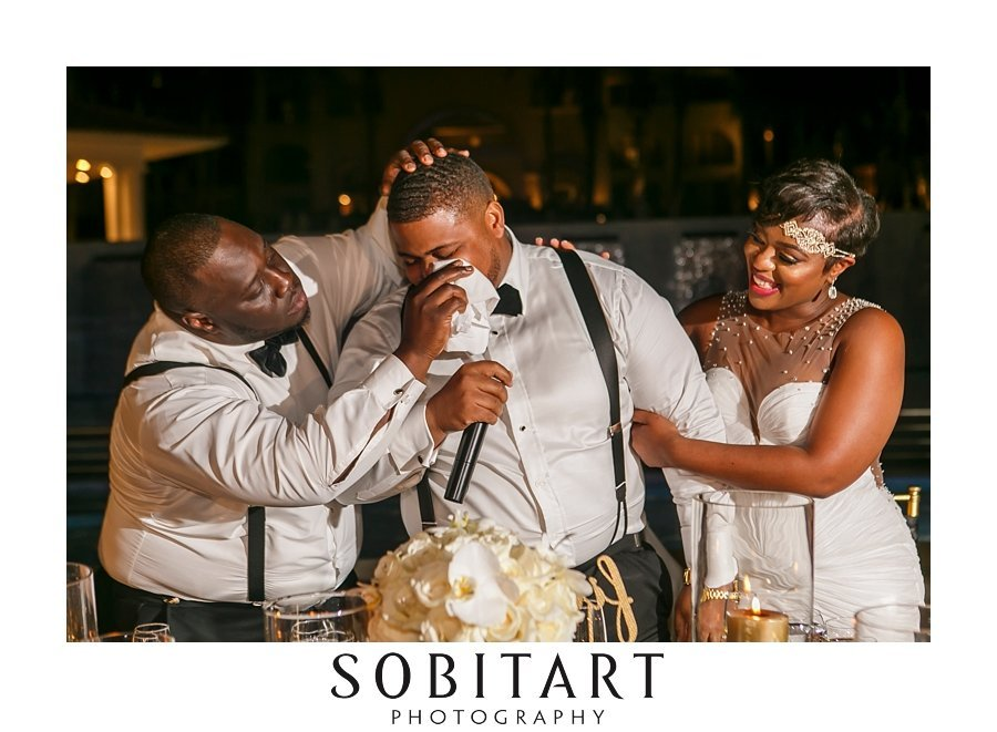 Best Man Toast for destination wedding at  Dream Resorts Los Cabos Mexico photo by Sobitart Photography