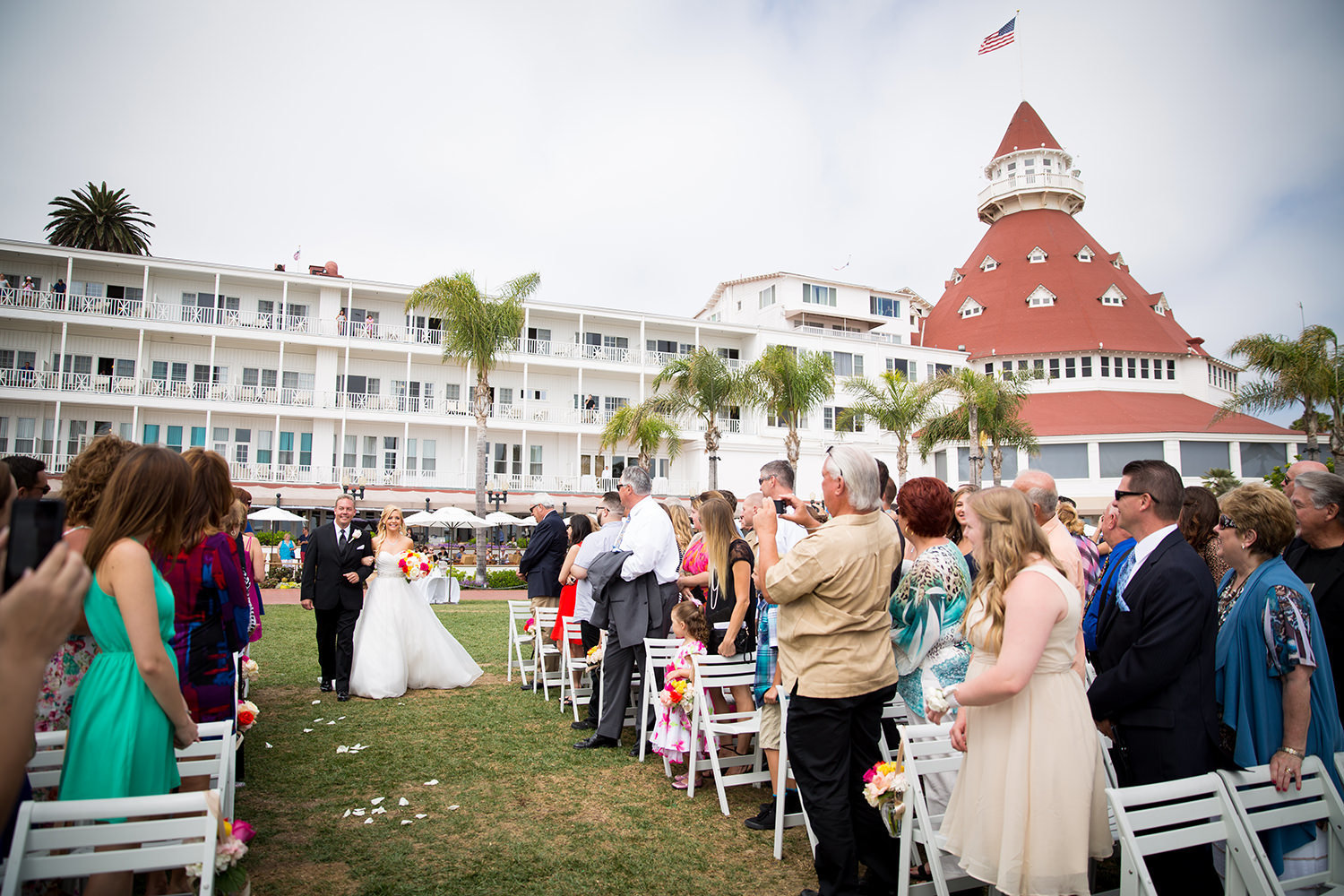 ceremony space at hotel del