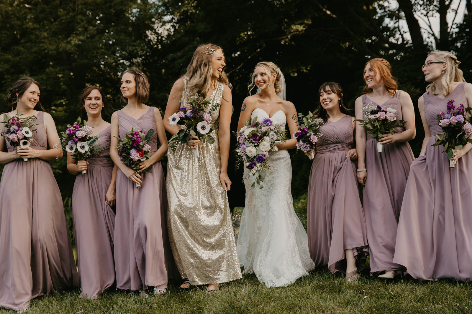 Bride and her bridemaids.