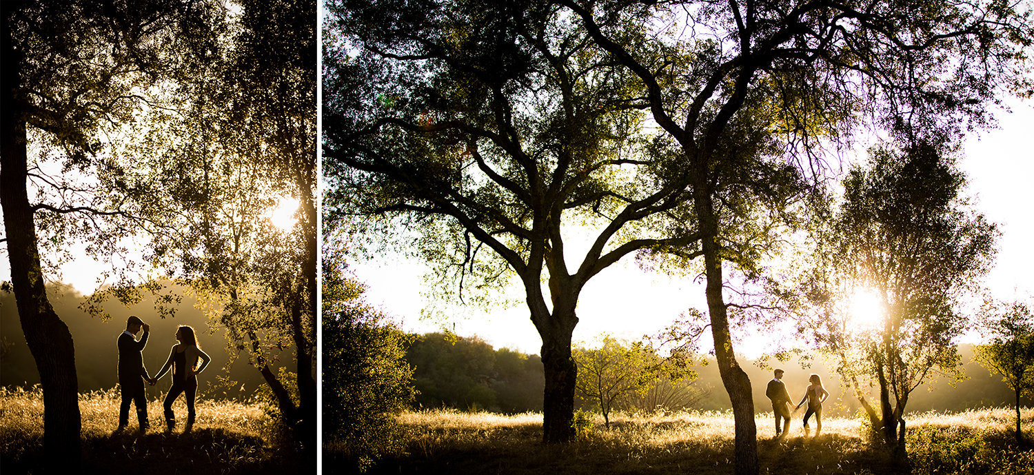 Daley Ranch engagement photos open field beautiful light