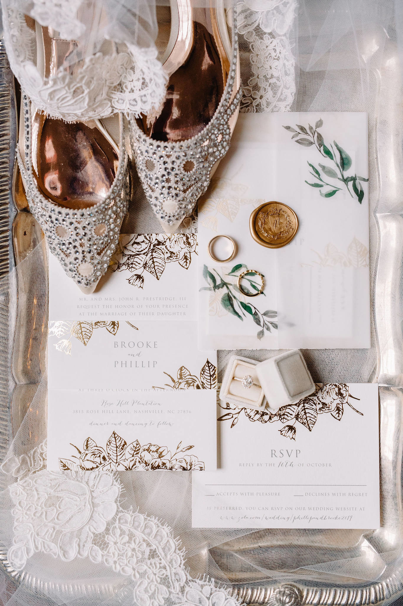 Wedding Flat Lay Stationery