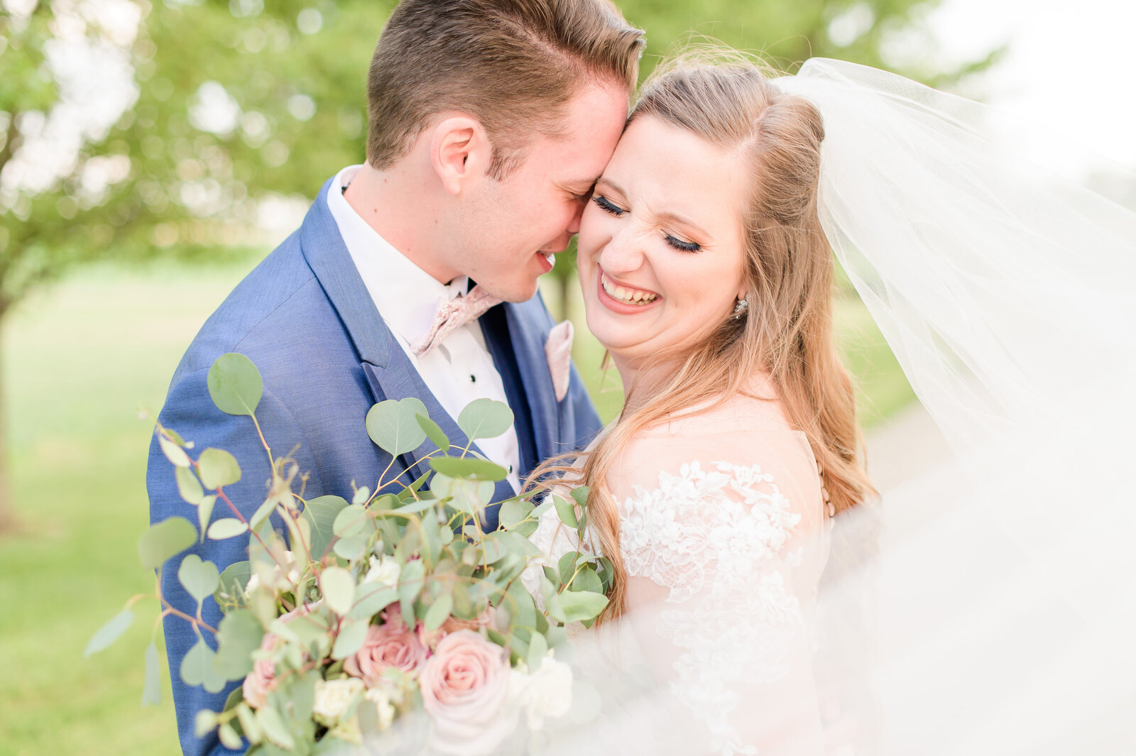 Navy & Blush Indianapolis Summer Wedding
