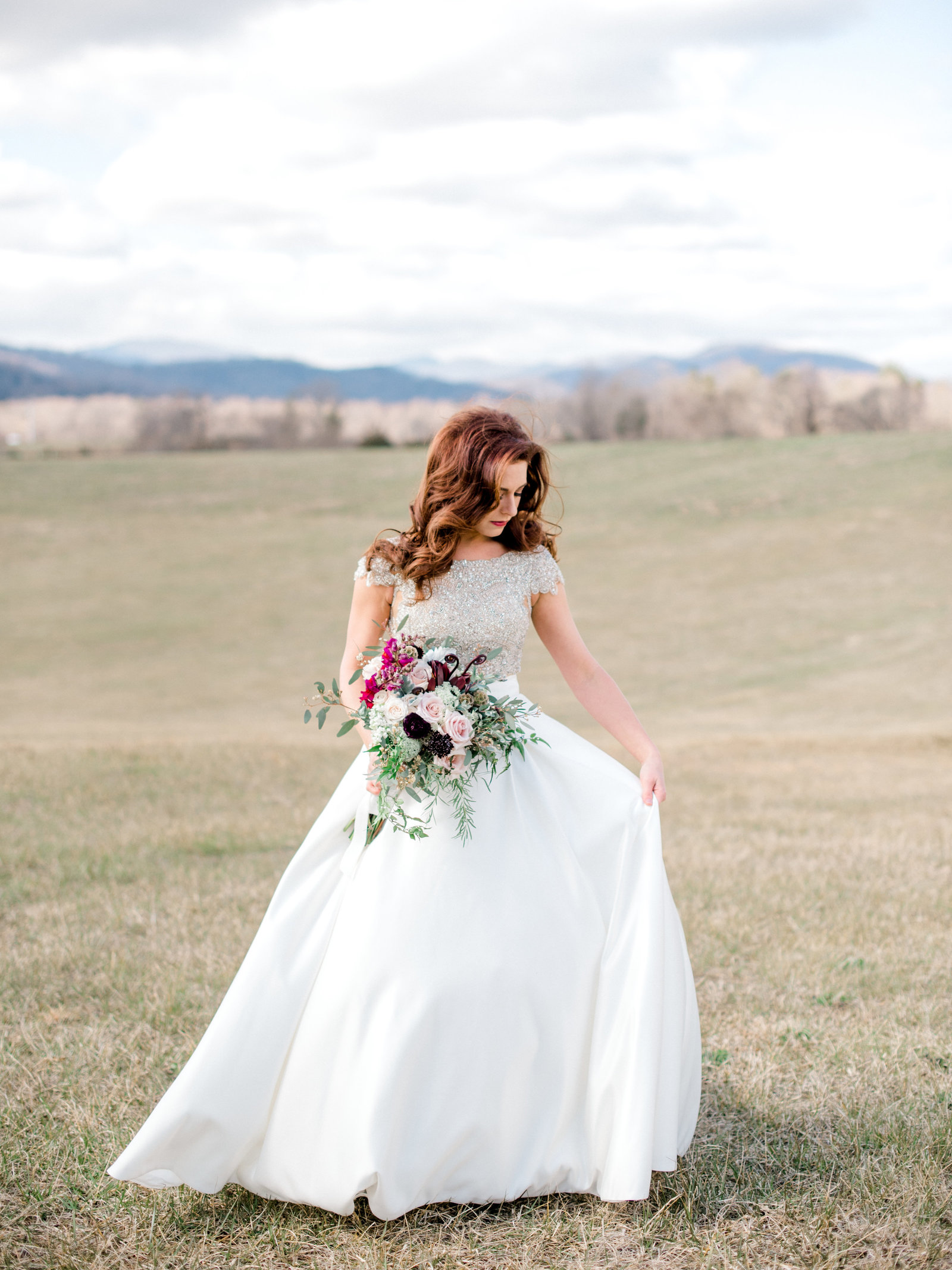 Early Mountain Vineyards Wedding- bridal portrait