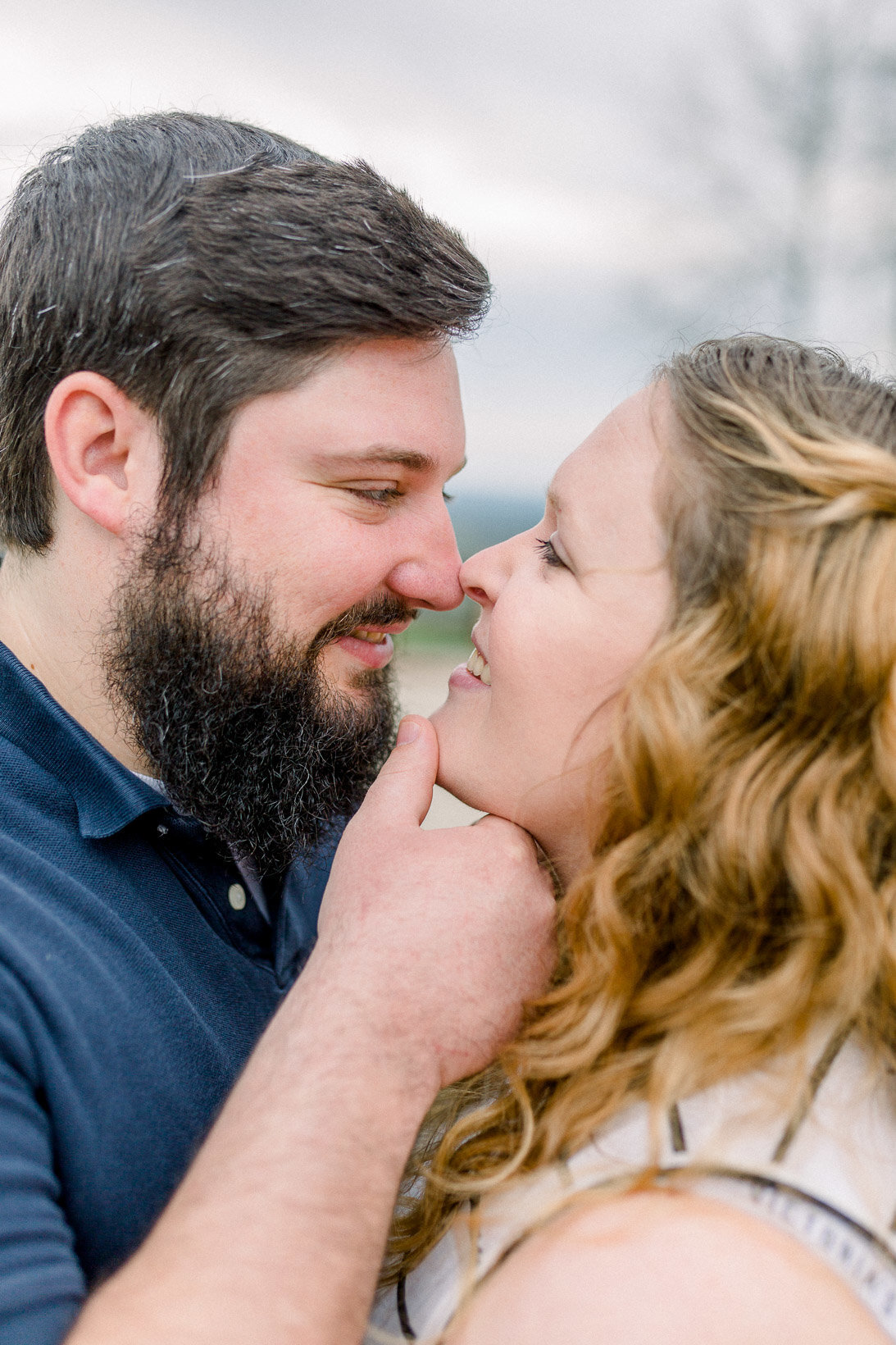 Intimate moment between couple captured by Staci Addison Photography