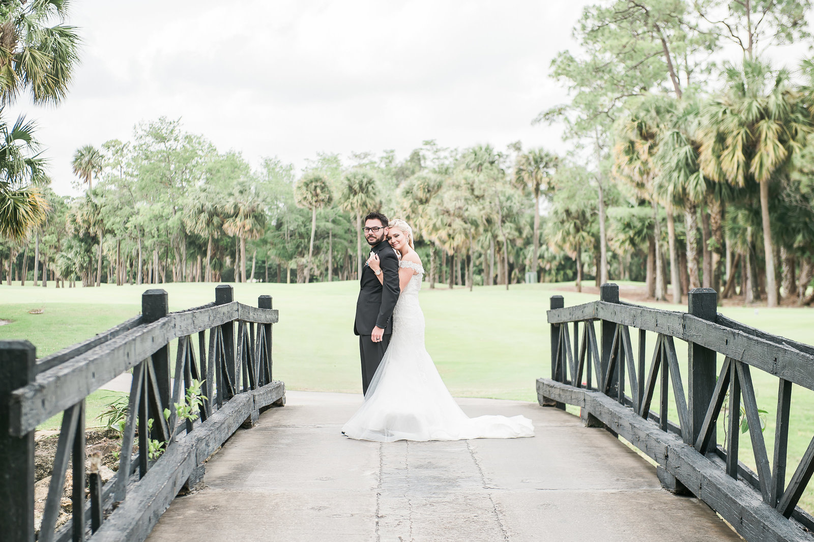 Snuggling Bride and Groom - Myacoo Country Club Wedding - Palm Beach Wedding Photography by Palm Beach Photography, Inc.