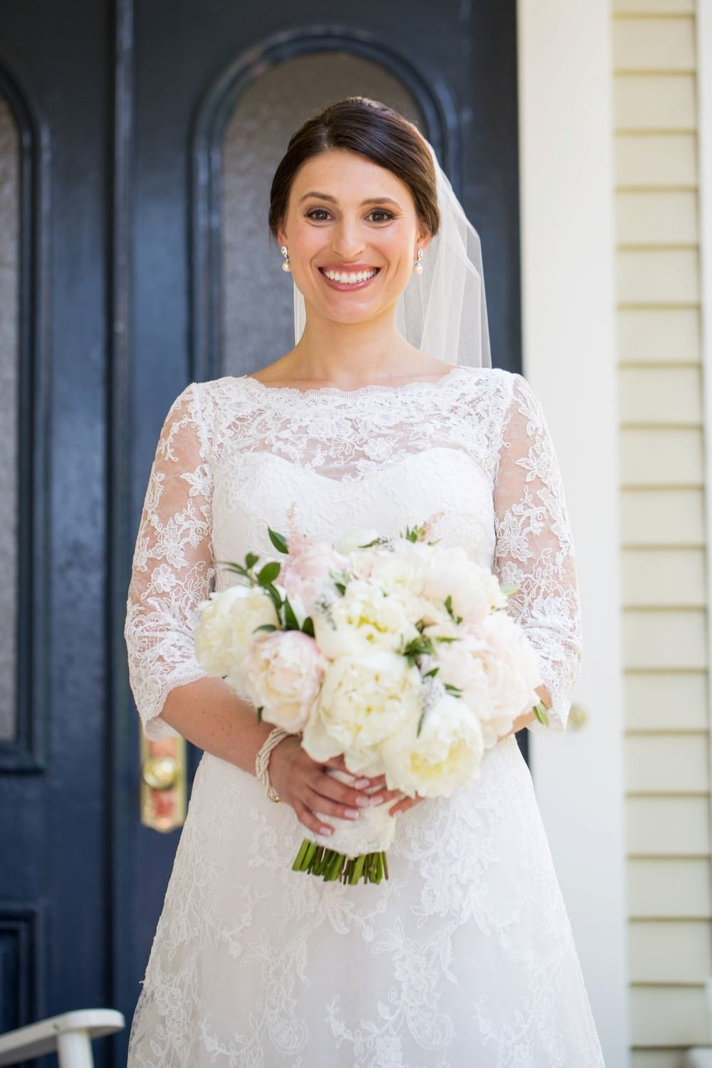Classic navy and white wedding at The Eisenhower House, Newport RI