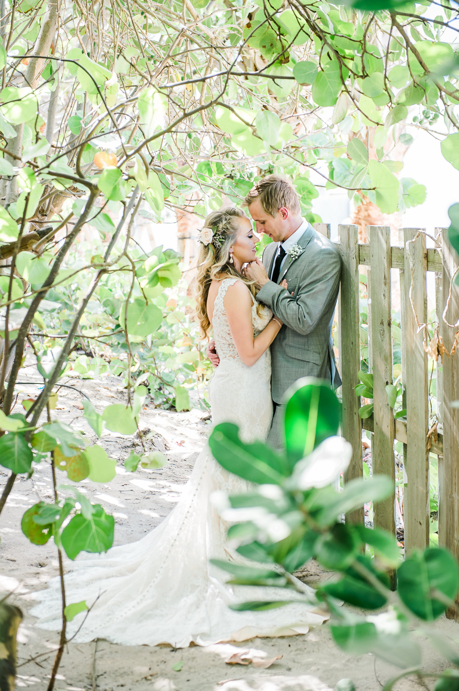 Romantic Bride and Groom - Hilton Singer Island Wedding  - Palm Beach Wedding Photography by Palm Beach Photography, Inc.