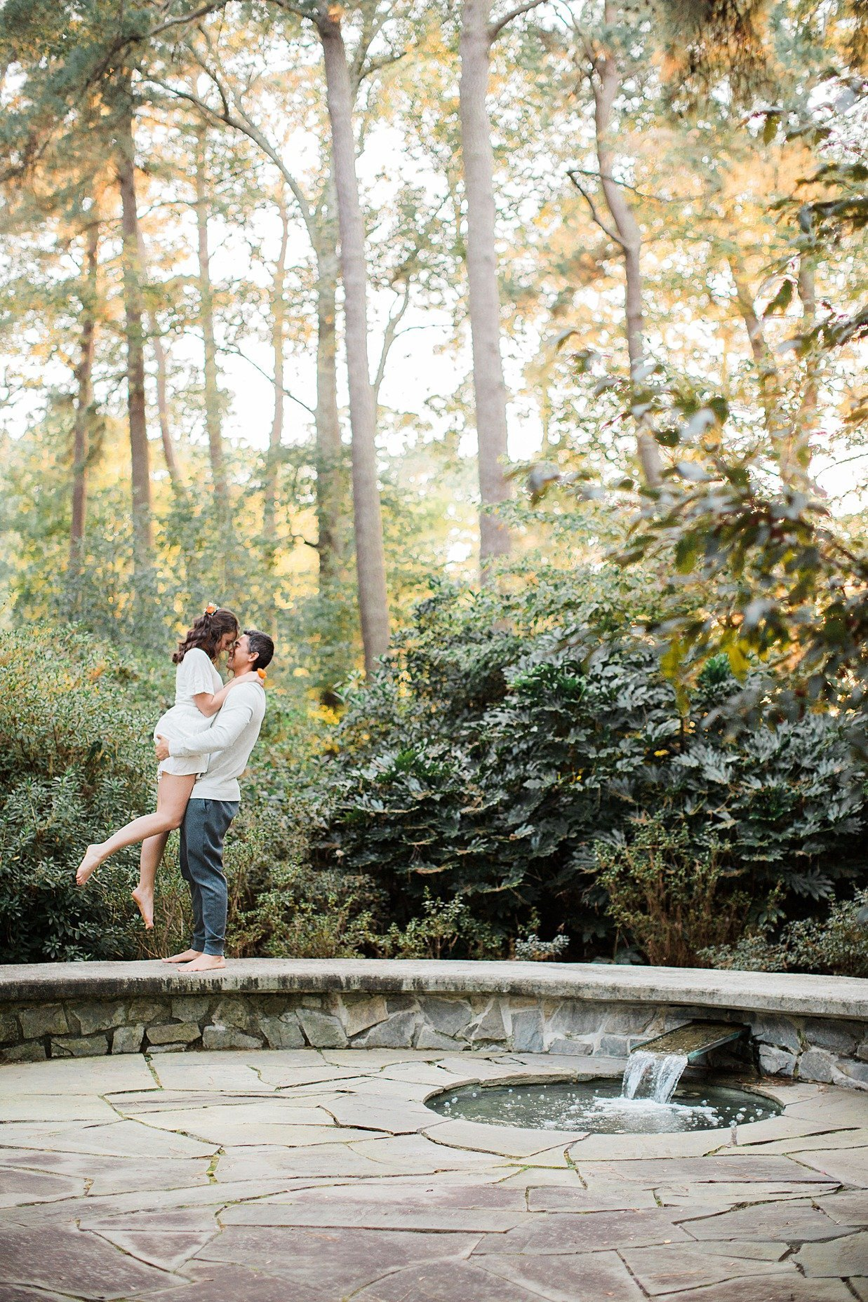 Outdoor Intimate Sweet Couples Boudoir Photo Shoot Norfolk Botanical Gardens VA Yours Truly Portraiture-156