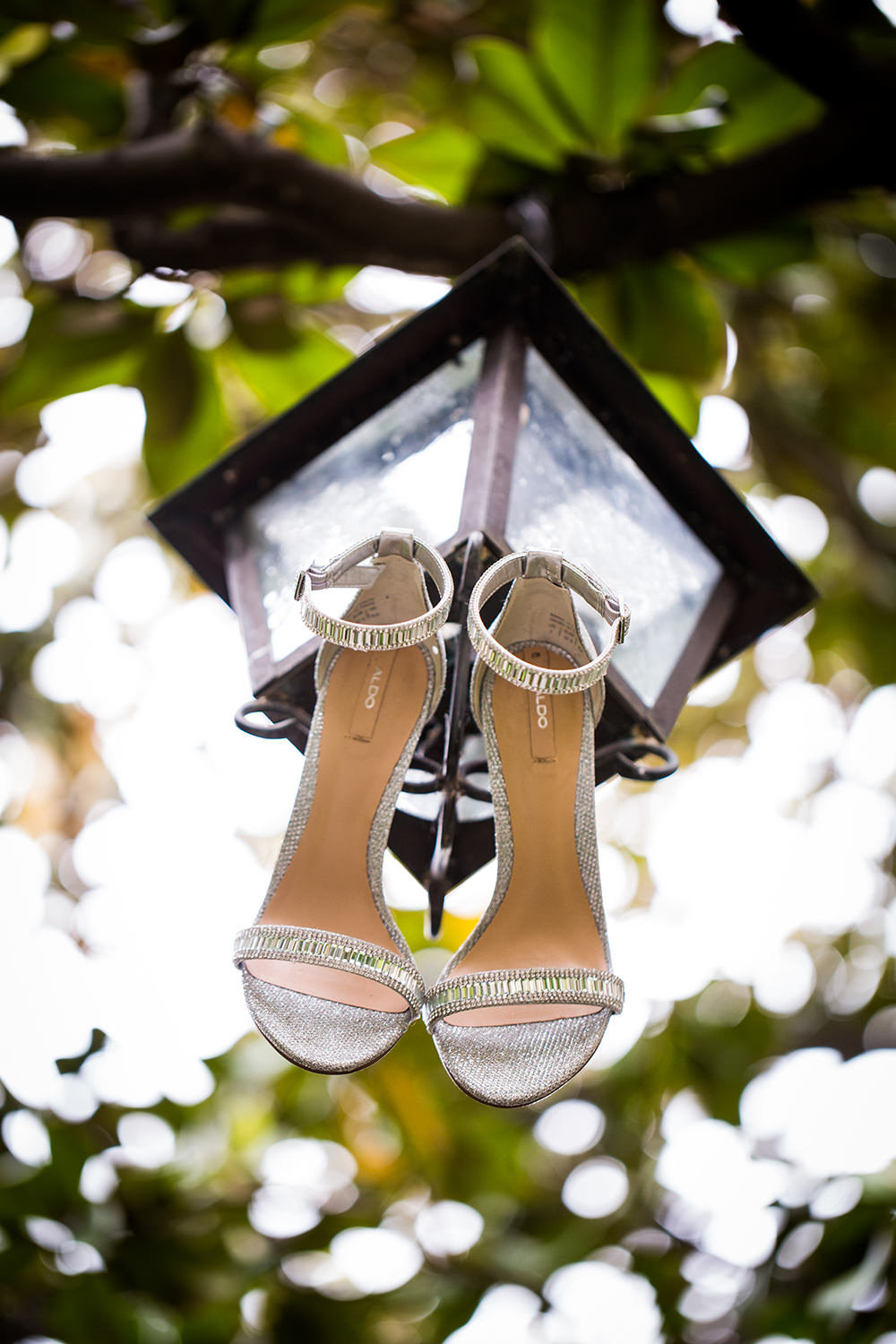 Wedding shoes detail photo