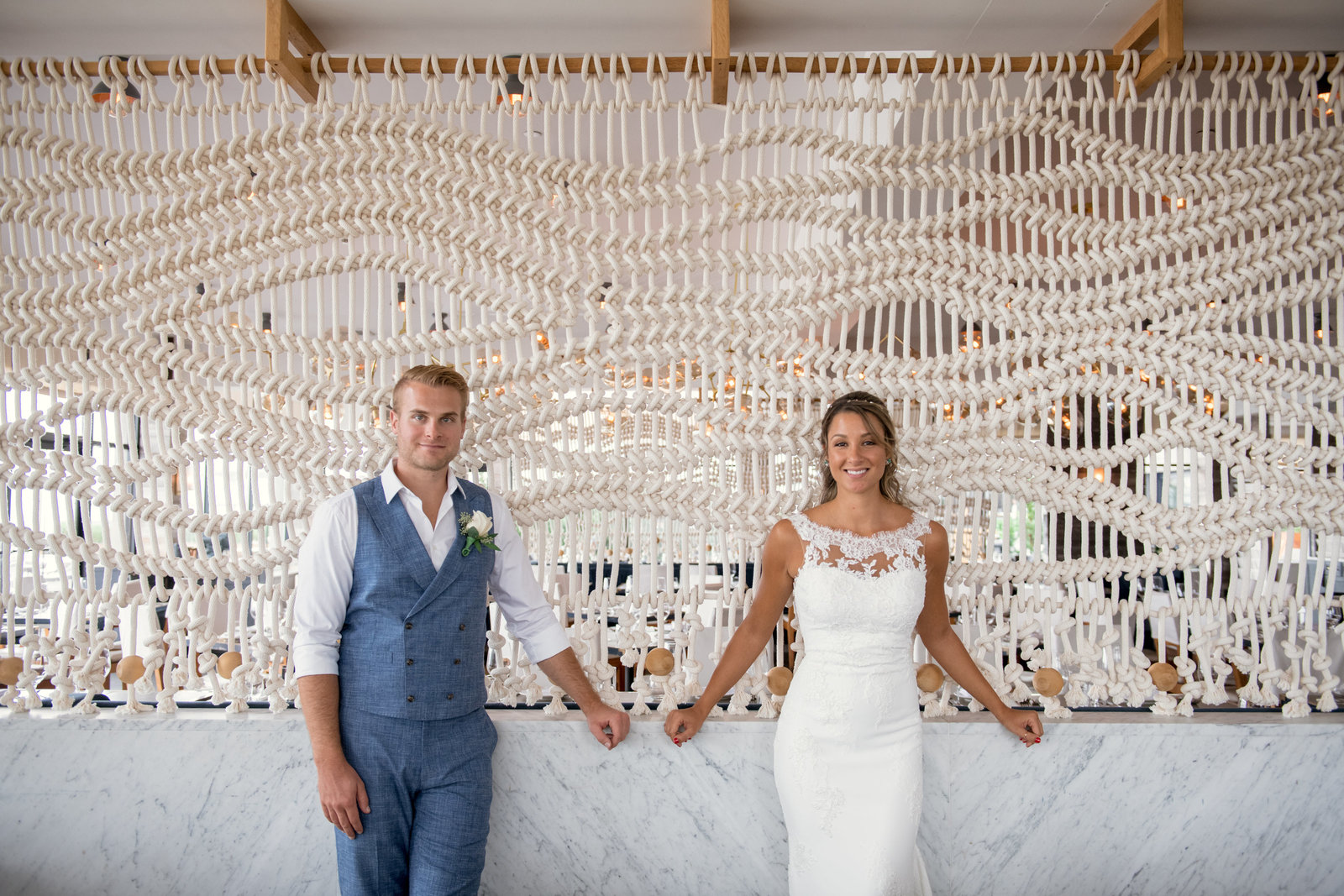 photo of bride and groom from Gurneys Montauk Resort wedding