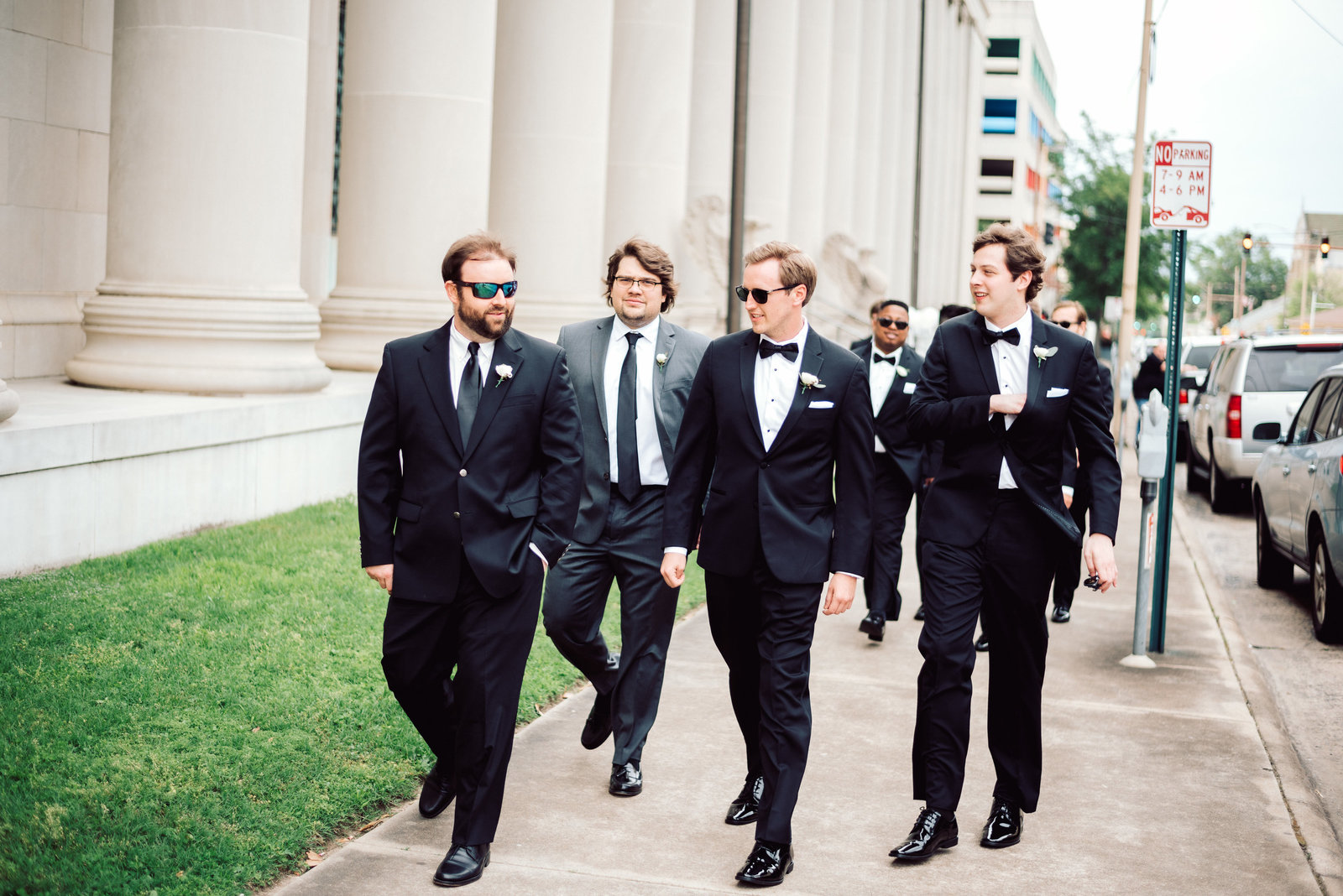 Groomsmen in downtown Little Rock / Sterling Imageworks