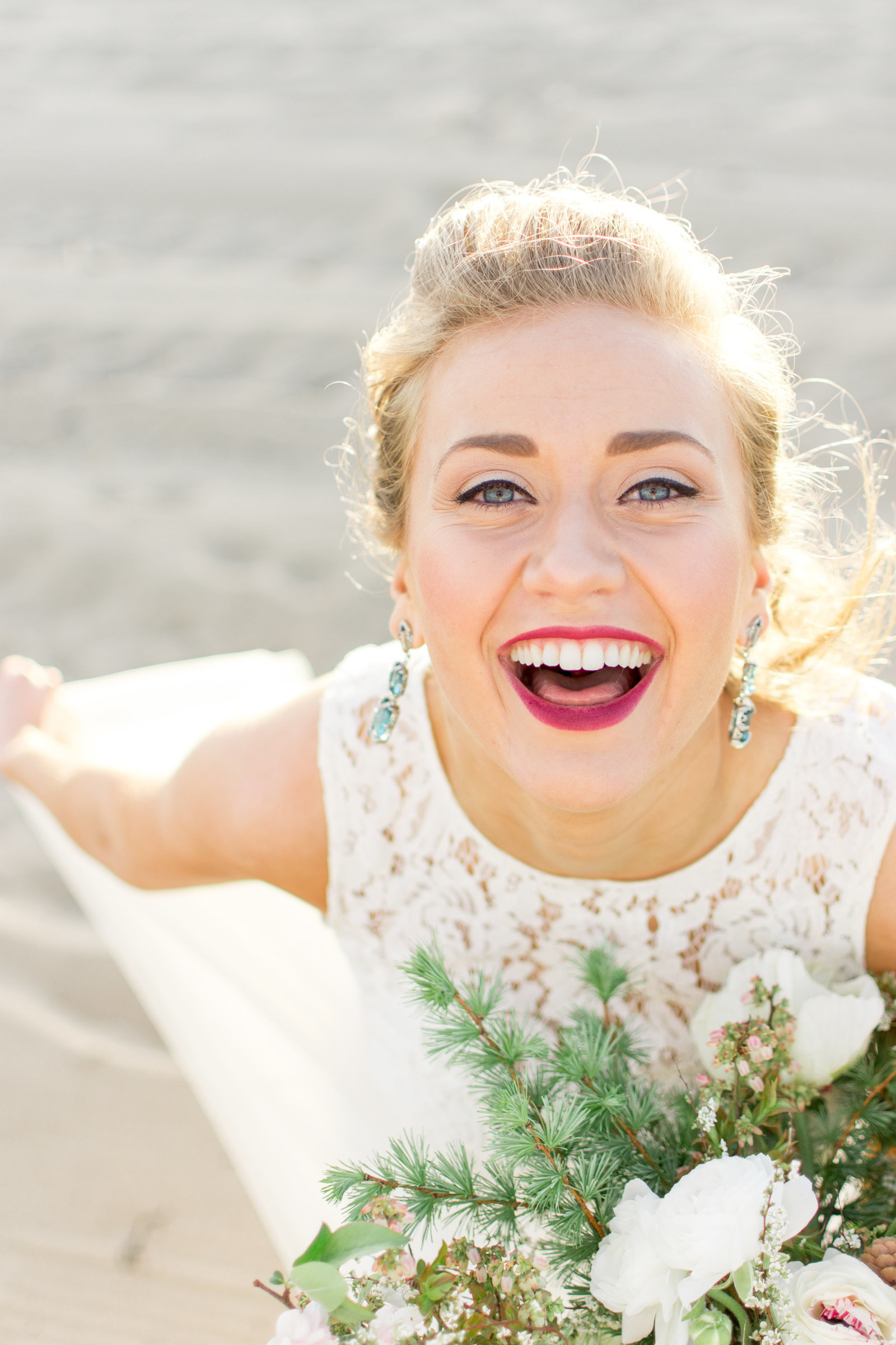 Happy Beach Bride